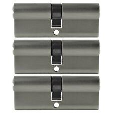 3x Profil Zylinder 90mm 45/45 Not + Gefahr 15 Schlüssel gleichschließend Schloss