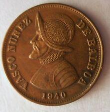 1940 PANAMA 1 1/4 CENTESIMOS - AU w.RED - Great Coin - Low Mintage - Lot #M22