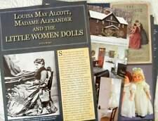 16p History Article + Pics - Madame Alexander's Little Women Dolls