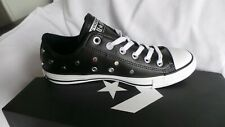 Brand New in box Converse Black Leather All Star Stud Ox trainers Size 7 EU 40