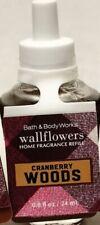 1 Bath & Body Works CRANBERRY WOODS Scent Wallflower Home Oil Refills Bulb