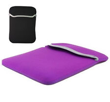 """Purple Reversible 10"""" Neoprene Sleeve Case For Apple iPad 1 and 2,10 inch Cover"""
