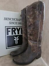 FRYE Melissa Button Glazed Leather Chocolate Boots Shoes US 6 M EUR 36.5 NWB