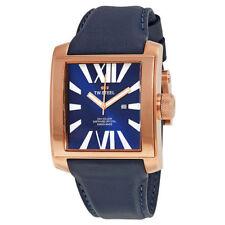 TW Steel Men's CE3018 CEO Goliath 42mm Blue Dial Dark Blue Leather Watch