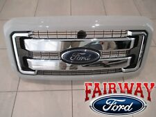 11 thru 16 Super Duty OEM Ford Chrome Grille Grill w Paintable Surround & Emblem
