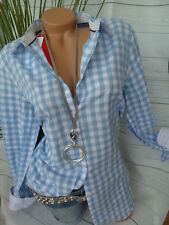 Sheego Tunika Bluse Shirt Gr. 42 - 48 kariert (926) (527) Blau weiß NEU