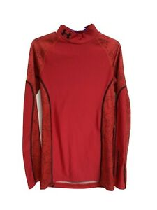 Under Armour cold gear youth kids pullover red long sleeve size YMD