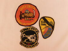 VIETNAM PATCHES ORIGINAL SET OF 3 F TROOP SCOUTS 9TH CAV DIRTY DELTA 1 CAV GUNS