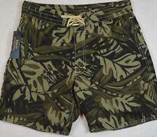 Polo Ralph Lauren Swim Trunks Board Shorts Camo Tropical 30 NWT $85