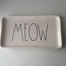 Rae Dunn MEOW PLATTER by Magenta LL BIG LETTER Farmhouse Style