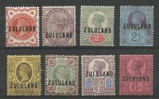 ZULULAND sg1-8 il 1888-93 QV GB o / stampa impostata su 6D FRESH MINT CAT £ 320