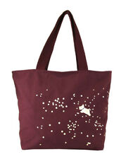 "** RADLEY LONDON "" SPARKLE "" Burgundy Canvas Tote Bag Msrp $35.00"