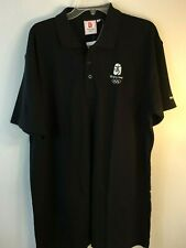 Beijing 2008 Olympics Polo Shirt Mens XXXL Black New with Tags Embroidered