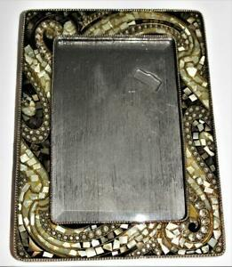 Olivia Riegel Mother of Pearl Mosaic & Swarovski Crystal Picture Frame 4 x 6