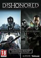 Dishonored DLC Double Pack (PC-DVD) Dunwall City Trials & Knife of Dunwall NEW