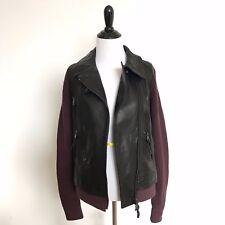 Coach Women's Leather Knit Jacket Size S