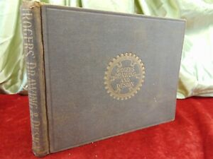 Antique Book 1903 ROGERS' DRAWING & DESIGN Williams Rogers INDUSTRIAL GRAPHICS