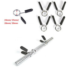 25mm Barbell Gym Weight Bar Dumbbell Lock Clamp Spring Collar Clips Usable `