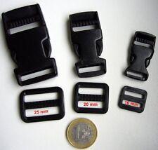 5 x Klickverschluß Steckschließer mit Schieber 20mm