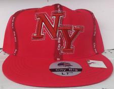 New York City Big Apple Large 7-1/2  Red  Flat Bill Hat Cap
