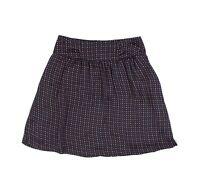 Anthropologie Line /& Dot Mini Skirt Size XS S M Polka Dot Silk Black $100  B14