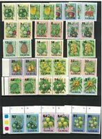 SAM48) Samoa 1983 - 1984 Fruit I, II & III MUH pairs