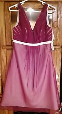 DA VINCI LOVELY BERRY/IVORY FORMAL BRIDESMAID DANCE EVENT PROM DRESS NWT SIZE 12