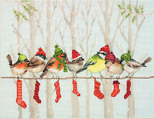 Cross Stitch Kit ~ Dimensions Winter Gathering Birds on a Clothesline #70-08970