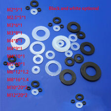 M2~M20 Nylon gasket Straight cylinder plastic insulation flat mat Black / White