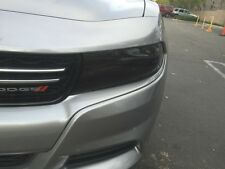 2015-2017 DODGE CHARGER SMOKE HEAD LIGHT PRECUT TINT COVER SMOKED OVERLAYS