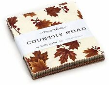 "Country Road Moda Charm Pack 42 100% Cotton 5"" Precut Fabric Quilt Squares"