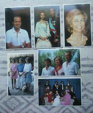 LOTE 6 TARJETAS POSTALES FAMILIA REAL ESPAÑA DE STANLEY GIBBONS