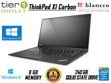 Lenovo ThinkPad X1 Carbon 1st Gen 240GB SSD i7-3667U Win 8 Laptop Touchscreen