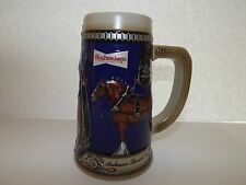 Budweiser Beer Blue Stein Mug Clydesdale Horse Barware Cermarte Gift Cup