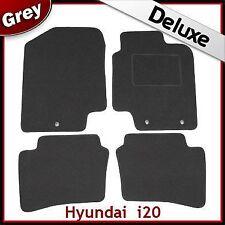 Hyundai i20 Mk1 2008-2014 3-eyelets Tailored LUXURY 1300g Carpet Car Mats GREY