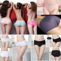 Women Seamless Invisible Underwear Thong Lingerie Briefs Cotton Spandex Panties