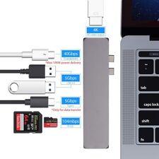 USB-C Multi-Port Hub, Super Speed 7-in-1 Connection Kit USB 3.0 HUB Micro/SD Lot