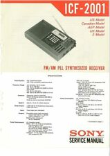 SONY ICF-2001 SERVICE MANUAL ON A CD