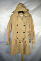 Michael Kors Belted Double-Breasted Hooded Trench Coat, Khaki, Size M, $200, NwT