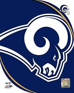 "Los Angeles Rams NFL Team Logo Composite Photo (Size: 8"" x 10"")"