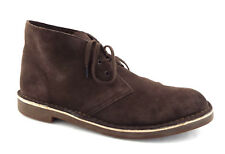 CLARKS Size 11.5 Bushacre Chukka Brown Suede Ankle Boots 11 1/2