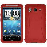 AMZER Red Silicone Skin Jelly Case Cover for HTC Inspire 4G