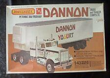 AMT Matchbox Peterbilt 359 Camión y remolque Dannon yogur 1/43 Modelo Kit
