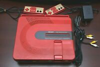 Sharp Twin Famicom console red AN500R Japan system US seller please read