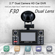 Dual Lens F30 2.7'' Auto Camcorder Car DVR Camera Vehicle Driving Recorder Dash