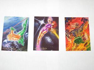 1994 DC MASTER SERIES DOOMSDAY #P1 Maxima #Ci1 Aquaman #N1 PROMO CARD LOT!