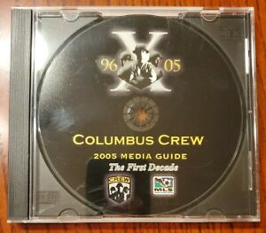 """2005 COLUMBUS CREW MEDIA GUIDE CD-ROM """"THE FIRST DECADE"""" MAJOR LEAGUE SOCCER ⚽️"""