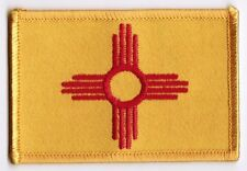New Mexico State Flag Patch Embroidered Iron On Applique