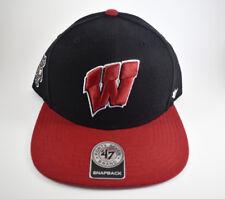 new styles d4365 1aa65 New Mens NCAA 47 Brand Wisconsin Badgers Sure Shot 2 Tone Sport Snapback Hat  Cap