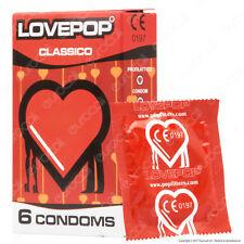 Preservativi Pop Filters LovePop Classico, 6 profilattici in scatola lubrificati